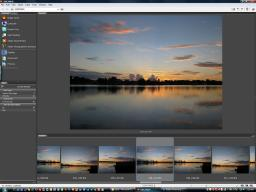 Adobe Bridge with Camera RAW files open
