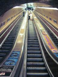 A scary escalator