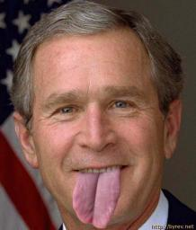 President Bush's little tongue problem