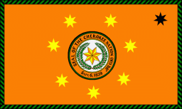 The flag of the Cherokee Nation