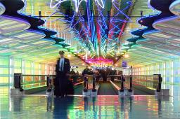 Chicago O'hare Tunnel of Light