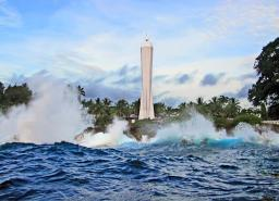 Another shot of the Coastwatcher's Monument in Madang