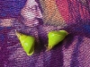 Earrings made from the Manus Island green snails