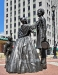 The statue of Abraham Lincoln and wife Mary