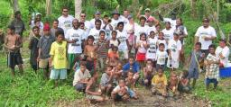 Madang Hash House Harriers at the end of the 1200th run