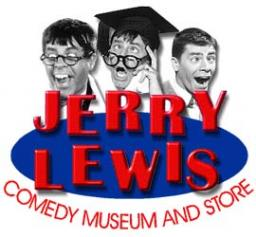 "Jerry Lewis - Logo of ""The Official Jerry Lewis Comedy Museum and Store"""