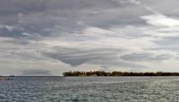 Lenticular clouds over Kar Kar Island