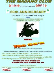 Madang Club 60th Anniversary Party