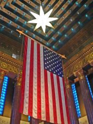 The inner vault of the War Memorial in Indianapolis - corrected