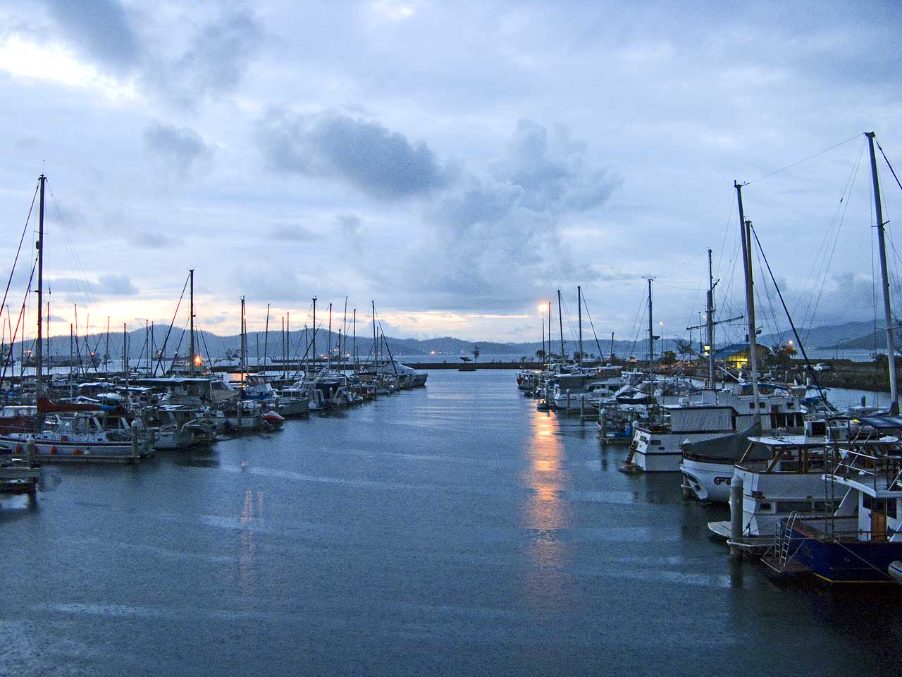 Port Moresby Royal Yacht Club at sunset
