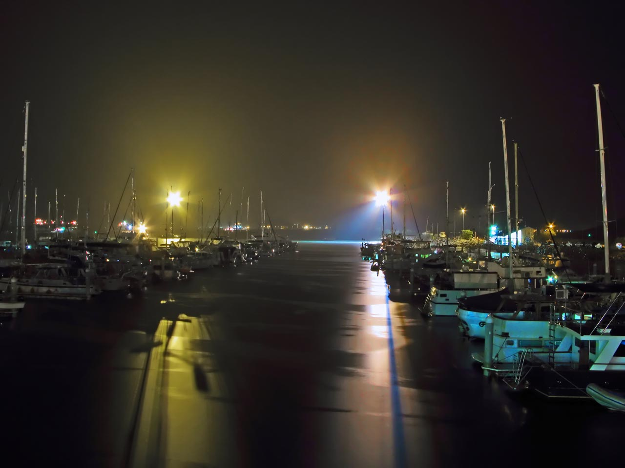 Port Moresby Royal Yacht Club on a rainy night