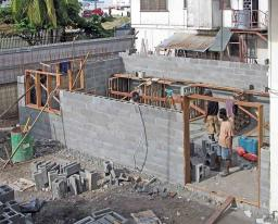 Walls going up