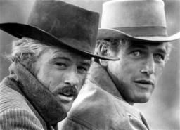Newman and Redford in Butch Cassidy and the Sundance Kid