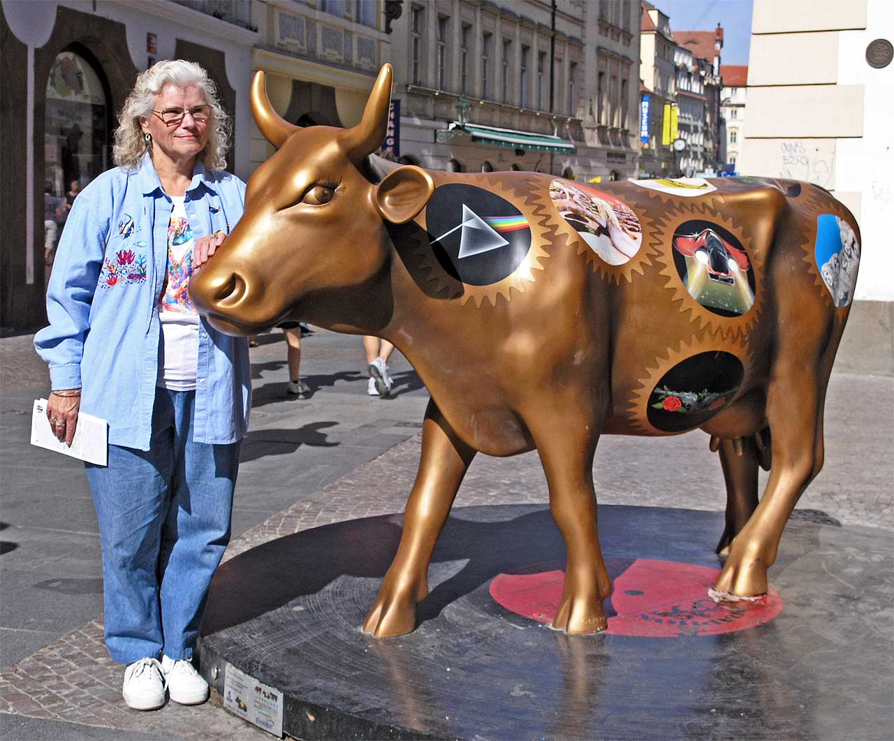 Eunie with her Golden Cow