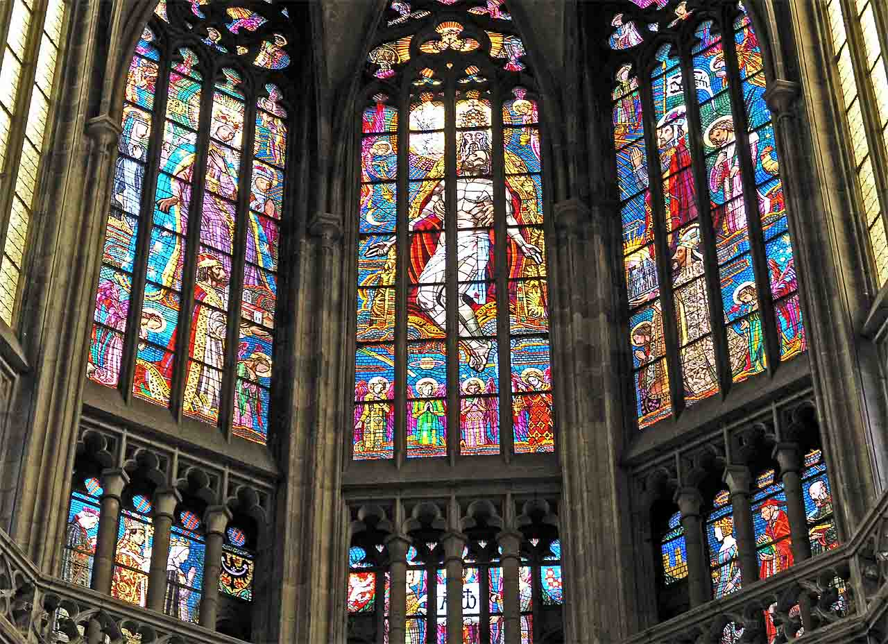 Yummy stained glass in Prague