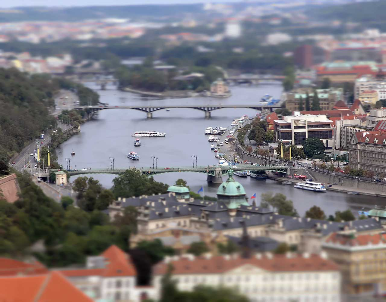 Prague as a miniature replica