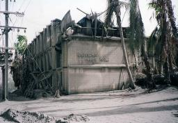 The wasted wreckage of the Kalvuna Resort Hotel in Rabaul