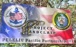 The Project Handclasp / USS Peleliu banner