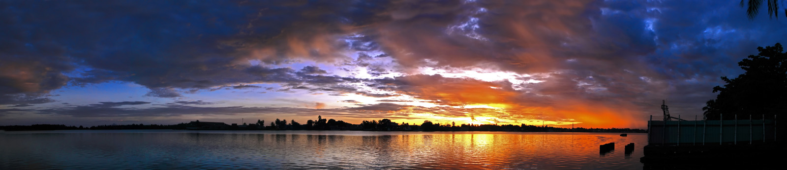 A wider sunrise panorama