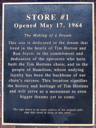Plaque at Tim Hortons #1
