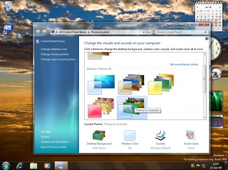 Windows 7 Theme Selector