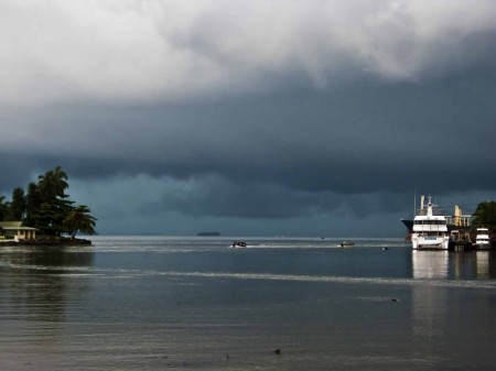 Brooding sky over Tab Anchorage