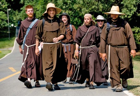 The six friars hit the road