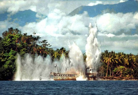 The Doilon being scuttled - 1994 - Kranket Island, Madang, Papua New Guinea