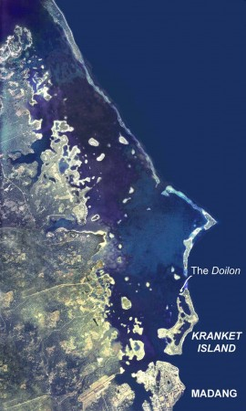 The location of the Doilon wreck