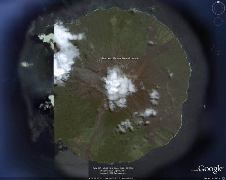 Another Google Earth image of Manam Island