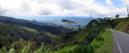A view from Kassam Pass overlooking the Ramu Valley