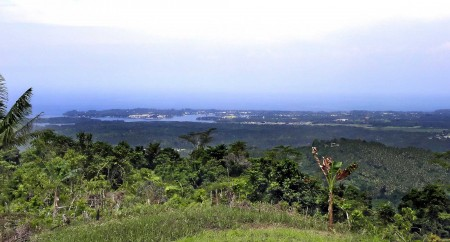 View of Madang from Nob Nob Mountain