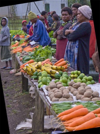 The morning market at Ukarumpa