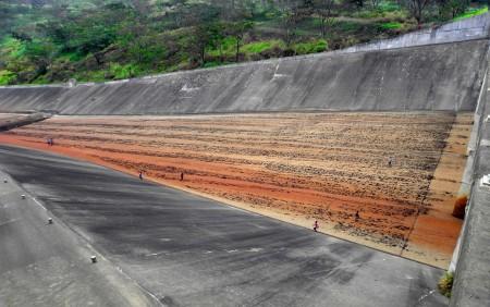 Yonki dam spillway