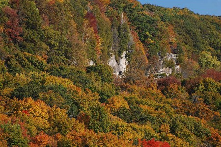 A Canadian Autumn at the Niagara Esarpment by Ron Barrons