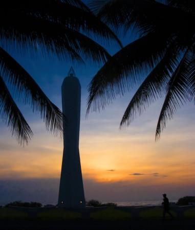 Sunrise at the Coastwatchers' Monument