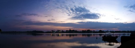 A Sunrise Panorama with glassy water (15 second exposure)