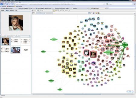 The Touchgraph application for Facebook