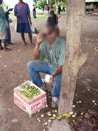Illegal buai seller