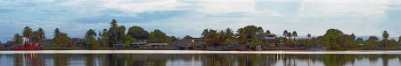 Madang Town morning panorama