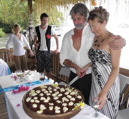 "Wedding of Trevor and Karen - Cutting the ""cake"""