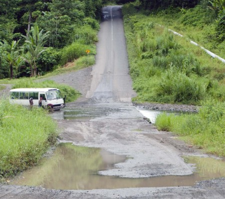The only remaining ford between Madang and Lae