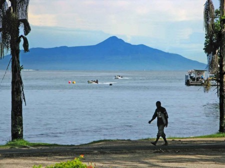 Kar Kar Island as seen from Madang (telephoto shot makes it look closer)
