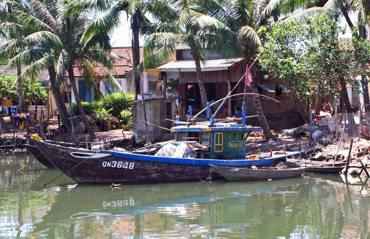 River boat in Hoi An Vietnam