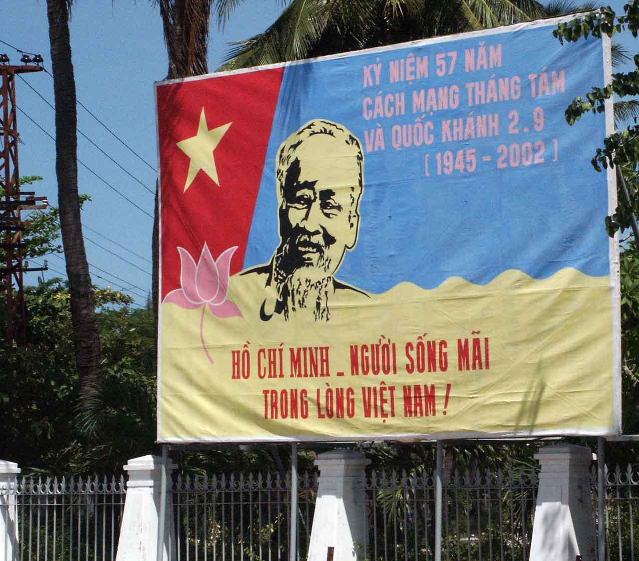 Banner in Hoi An Vietnam