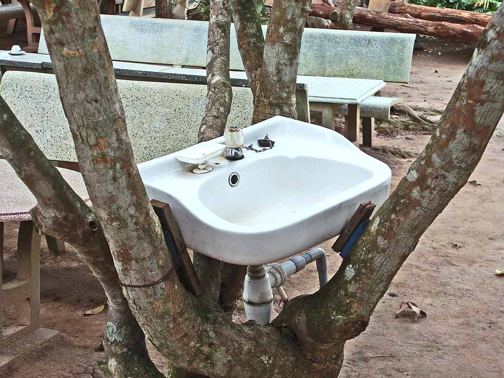 A place to wash up in the Mekong Delta