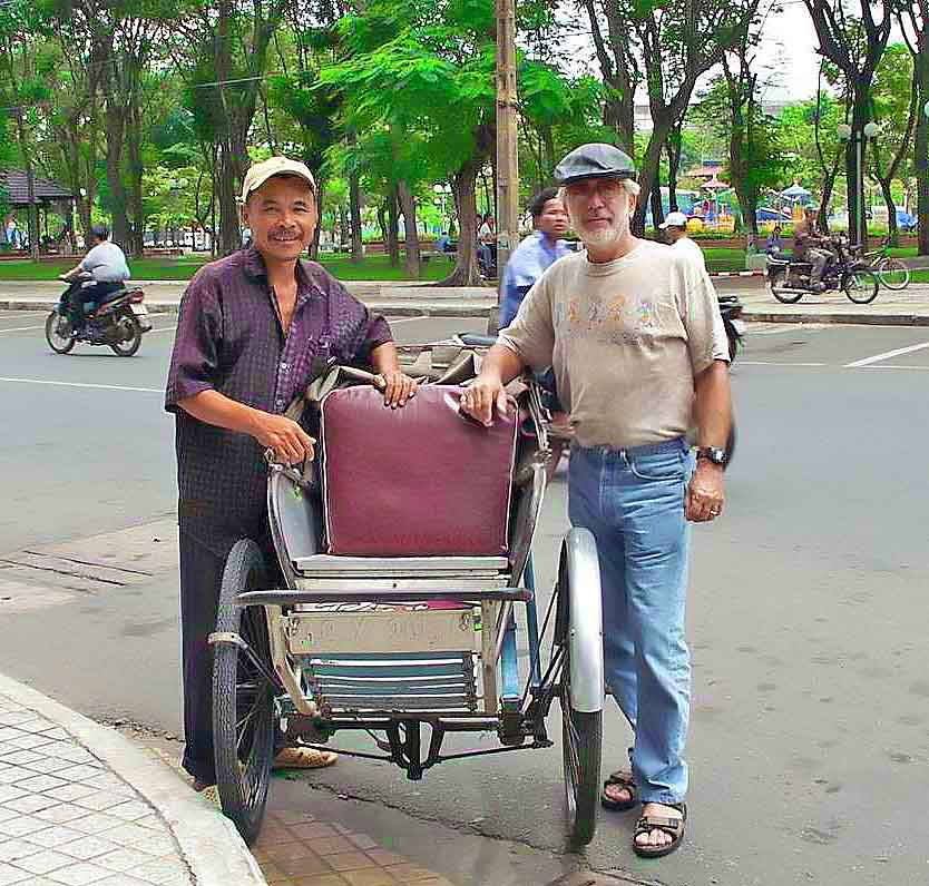Quang and his trusty cyclo