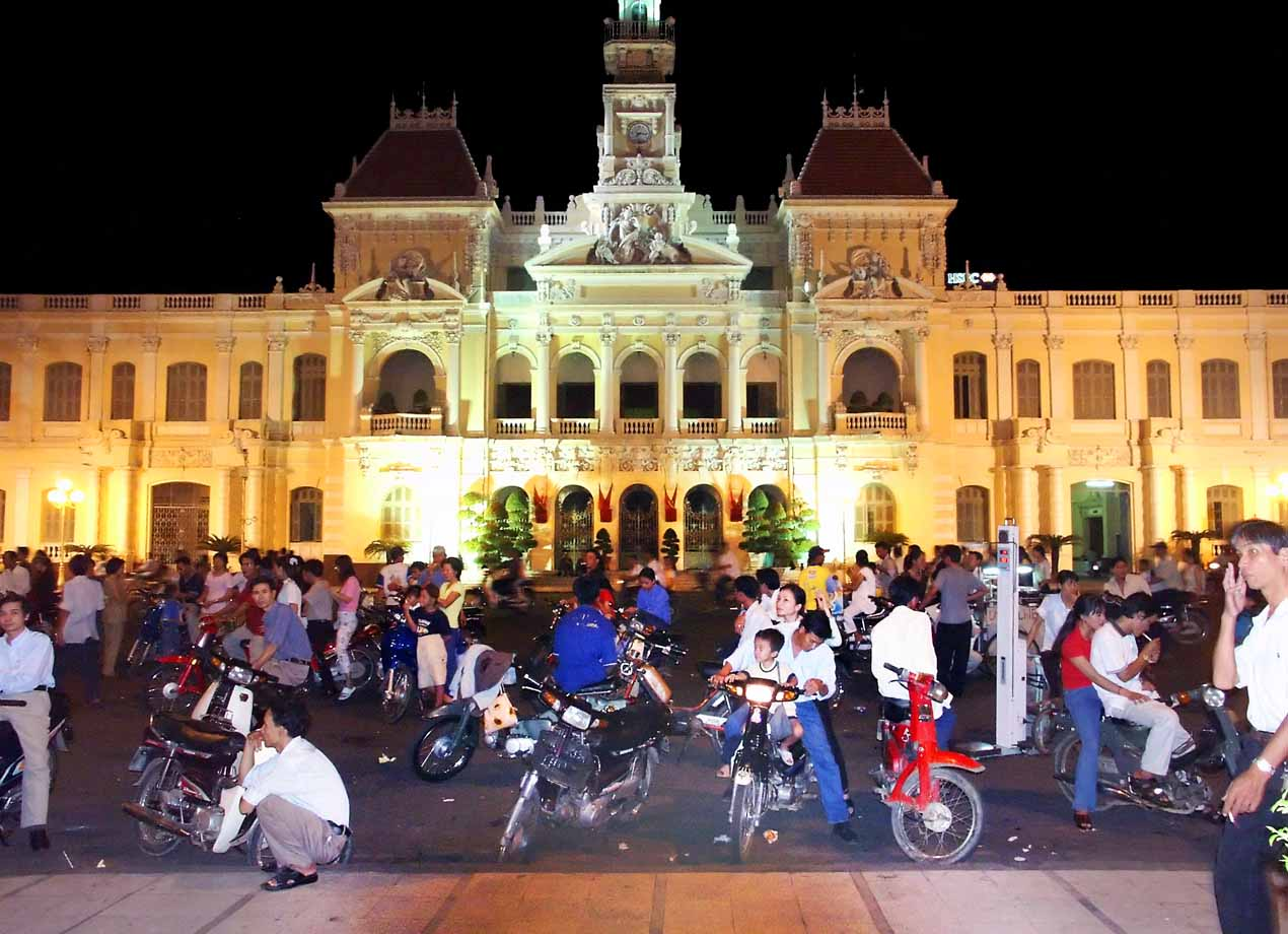 Saigon at night - City Hall