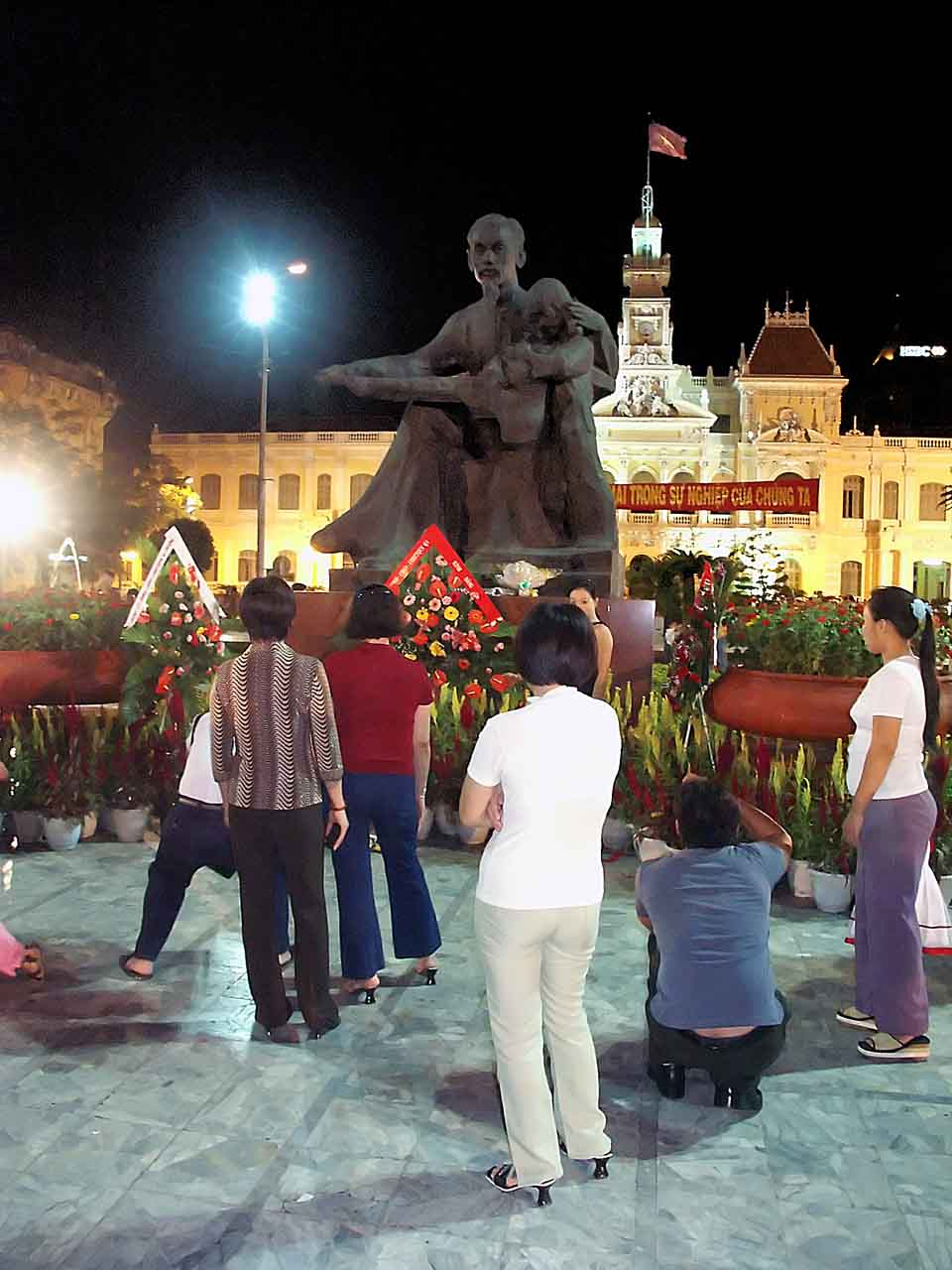 The statue of Ho Chi Minh in front of City Hall - Saigon